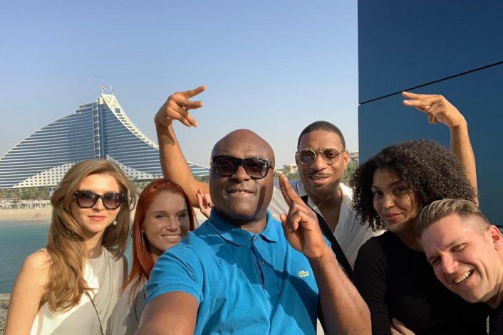 Рэпер Nana и Кевин Маккой с агентом BnMusic в Дубаи