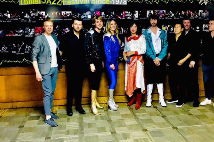 Группа ABBA с агентом BnMusic перед концертом в Тбилиси