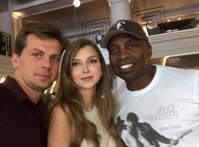Haddaway с агентами BnMusic в Киеве