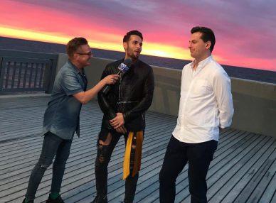 Morandi и букинг-агент дают интервью в Калининграде
